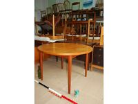 DANISH table extending LEGS COME OFF Nils Johnsson for Troeds mid mod vintage Brighton gplanera