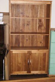 real wood cabinet and bookshelf unit