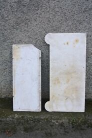2 antique marble slabs/ panels for restoration/ projects.