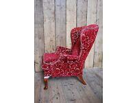 PARKER KNOLL armchair Queen Anne antique chic kitsch decorative vintage upcycle gplanera