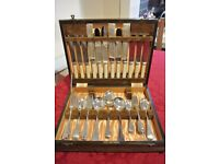 Beautiful boxed set of antique cutlery