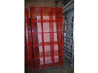 2x Red Locker Units H:198cm x W: 91cm x D:45cm