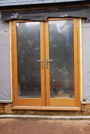 Pair of Oak French Doors, brand new
