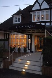 Full-time Receptionist/Host(ess) for Chapter One (Orpington, Kent)