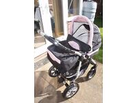 Coral Pushchair/stroller and accessories