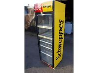 Catering shop equipment schweppes/cocacola display drinks fridge