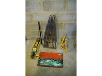 Trolly Jack, Ramps, Axel Stands and Socket Set