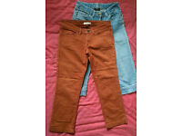 Two pairs of cropped jeans from Esprit and M&S size 27 and S