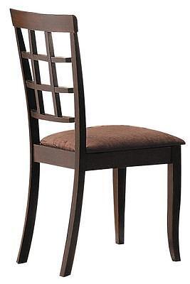 Acme Cardiff Espresso Dark Brown MFB Side Chair (Set of 2) Rbw MFB CA Foam - Dark Brown Side Chair