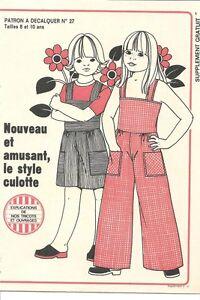 patron couture nouveau amusant le style culotte 8 10 a ebay