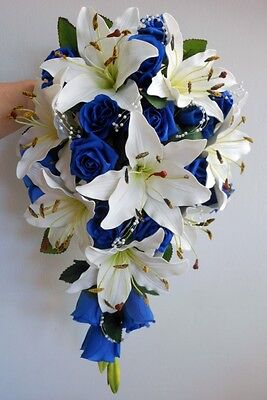 Wedding Flowers Package Navy And Ivory Listing For Boobookitty-4