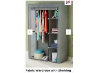 New Fabric Wardrobe with Shelving Brand new in box