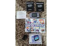 Gameboy Advance Package (Rare Translucent Gameboy)