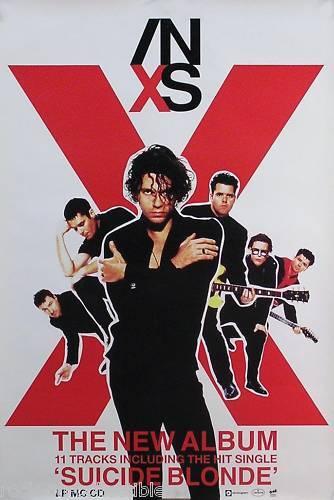 INXS 1990 X Suicide Blonde Original Promo Poster