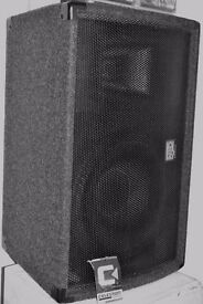 pair of wedge sound reinforcement/stage foldback monitors JBL and NJD