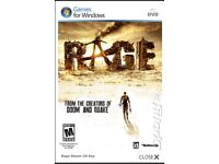 Brand New Rage PC game,dvd, New Rage Anarchy PC game,DVD 3 disk's, manual&case.(.No Product cd key)