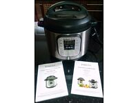 Instant Pot Duo 7-in-1 Electric Pressure Cooker, 6 Litre, 1000 W, Brushed Stainless Steel/Black