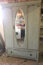 Triple wardrobe painted in Annie Sloan chalk paint shabby chic