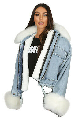 Levis Fur Lined Denim Jacket XS
