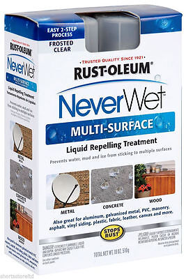 New Never Wet Rust-Oleum 18 oz. NeverWet Multi-Purpose Spray Kit