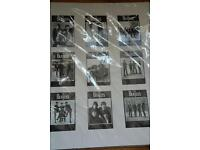 Beatles mounted postcards