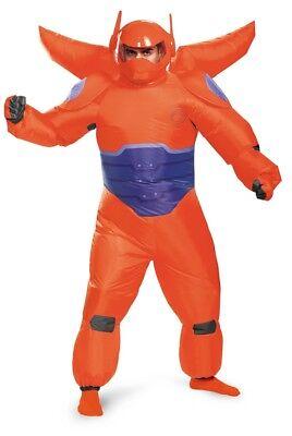 Herren Erwachsene Big Hero 6 Rot Baymax Aufblasbar Disney Kostüm ()
