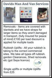 Removals/Rubbish Uplifts (Sepa Licence Holder)