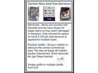 Man and Van Removals/Rubbish Uplifts/ (Sepa Licence)
