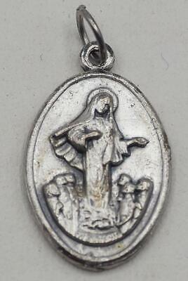 Vintage Religious Medallion Pendant Mary