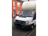 FORD TRANSIT T350 LUTON WITH TAIL LIFT AND ROLLER SHUTTER, 57 PLATE