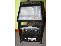 Home Studio / Mobile Gig 24/4/2 Mixer, Dual Compressor, FX & Amp rack