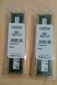 Crucial, 16 gb ddr4- 2133 RDIMM 1.2V CL 15, Internal memory