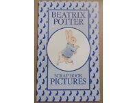 1990 'Beatrix Potter Scrapbook Pictures' Folder & 8 Sealed Packs of Beatrix Potter Scraps