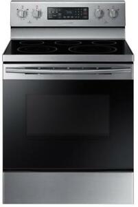 Samsung NE59M4320SS Electric Range 30 inch Glass Top Self Clean Convection 5 Burners