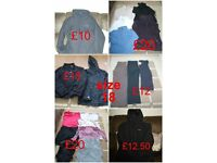 ladies clothes size 18 (coats, zip ups, gym clothes, blouses, tops and more)