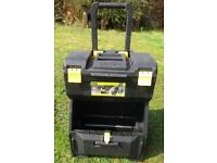 Wheeled Tool Box Chest Storage with Handle