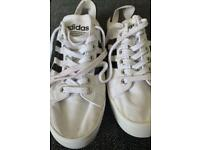 Adidas court vantage white trainers size 10