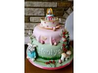 Children's birthday cakes and cupcakes