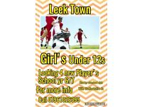 Girls under 12s players wanted