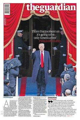 PRESIDENT DONALD TRUMP USA The Guardian UK 21 January 2017