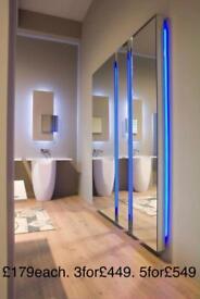 Salon mirrors. Mirror stations. Mirror units