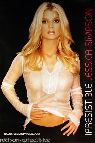 Jessica Simpson 2001 Irresistible Original Promo Poster