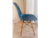 Four Nearly New, Designer style Dining Chairs For Sale