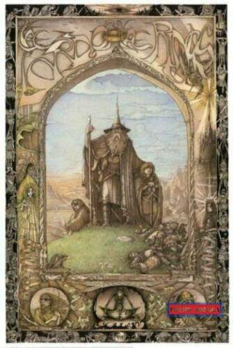Lord of the Rings Art Poster Original 1988 Swiss Import 24 x 36