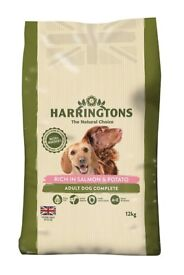 A complete dry dog food rich in salmon and potato