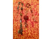 Real glass bead necklaces long