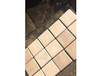 Rustic ivory kitchen tiles (73) brand new 10cm x 10cm. Ideal for a small area.