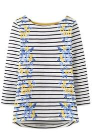 NEW Joules Harbour Print Jersey Top SIZE: 14