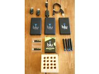 USED VAPING BLU E CIGARETTE HUGE JOB LOT, CHARGE ON THE GO KITS, USB CHARGERS, BATTERIES AND MORE