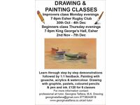 Drawing and painting classes starting in Esher after half term